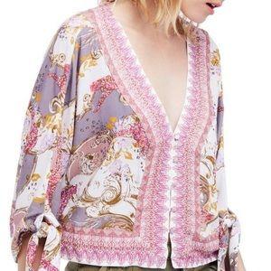 Long sleeves free people loose blouse